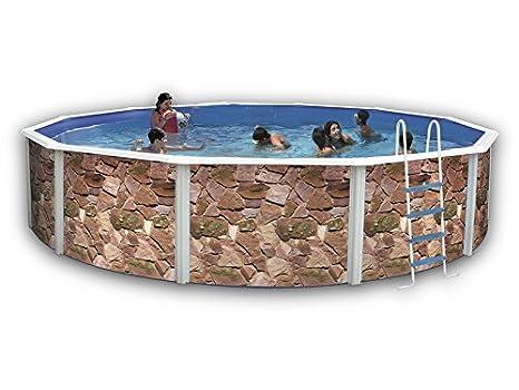 TOI - Piscina ROCALLA CIRCULAR 640x120 cm Filtro 6 m³/h.: Amazon.es: Juguetes y juegos
