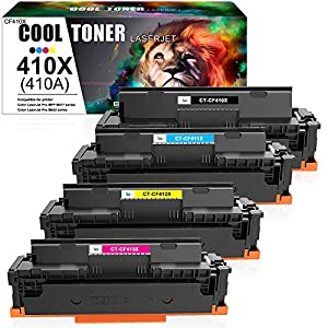HP color toner cartridges 410X by Cool Toner