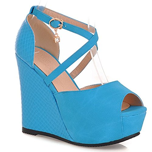 tobillo de YE Azul Mujer Tira qCBWgU