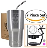 The Fremont all inclusive 7 piece tumbler package zeros in on the necessities needed to expand functionality of extended cold/hot beverage enjoyment.        Who cares about a tumbler package? The value you receive from the package gives you the es...