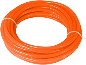 Quickun Pneumatic Tubing 10mm x 6.5mm PU Polyurethane Tube Air Hose Line for Air Compressor Fitting or Fluid Transfer (Orange 32.8ft/10Meters)