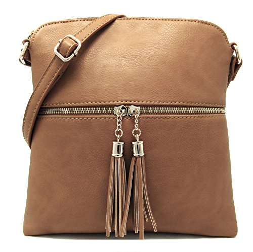 Light Organize Crossbody and Strap Bag Medium Purse Leather Adjustable Capacity Women's Large with Rich Faux Stone Shoulder Weight t7xqA1w