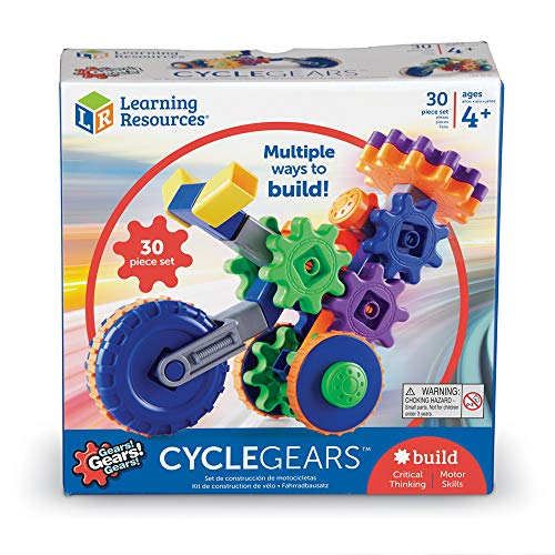 Learning Resources Gears! Gears! Gears! Cycle Gears, Construction, Gear Toy, 30 Pieces, Ages 4+