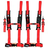 Pro Armor A115220RD Red 5-Point Harness 2'' Straps, 2 Pack