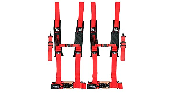 "RED PRO ARMOR 5 Point 2/"" Harness w// Sewn in Pads Seat belt # A115220RD"