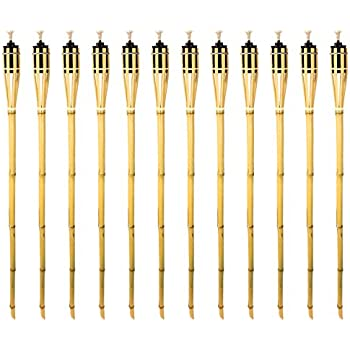 Amazon Bamboo Tiki Torches Tiki Style Metal Oil Canister 60