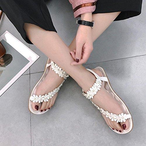 Beads Flip Teenager flop Sandals Women Summer Sandali Colorful Girls Bohemia Flower tm Bianchi Scarpe Piatti qpa8vzwF