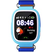 Alcatech Smart Clock Children Phone Sim Card and Memory Card Input GPS and WiFi Blue
