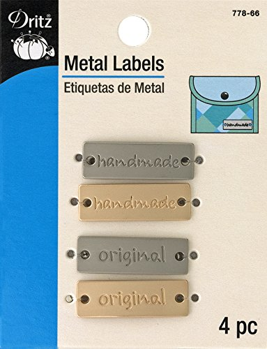 Metal Tags Embellishments - Dritz 778-66 Rectangle Metal Label,