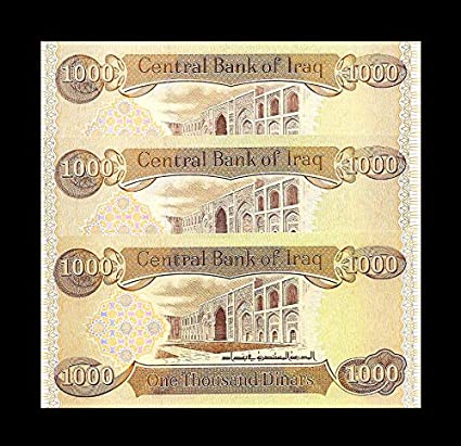 3 X 1,000 New Uncirculated Lot Of 3 From New Bundle 3000 NEW IRAQI DINAR