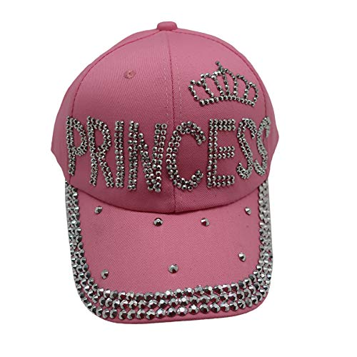 Forest & Twelfth Fashion Bling Baseball Cap Hat - Embellished w/Crystal Rhinestones and Faux Gemstones (Princess Pink) ()