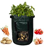 WensLTD Clearance! 7 Gallon Smart DIY Grow Bags for Potato/Plant Container/Aeration Fabric Pots with Handles