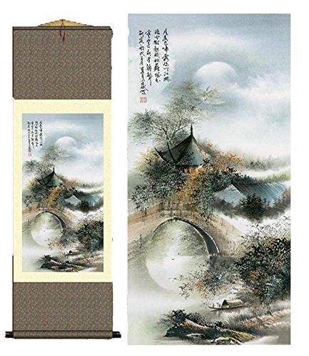 Grace Art Asian Wall Scroll, Waterside Village