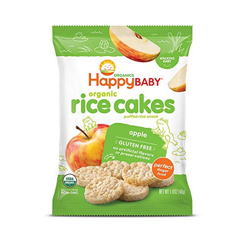 (Happy Baby Organic Rice Cakes Apple, 1.4 Ounce Packets (Pack of 10) (Packaging May Vary))