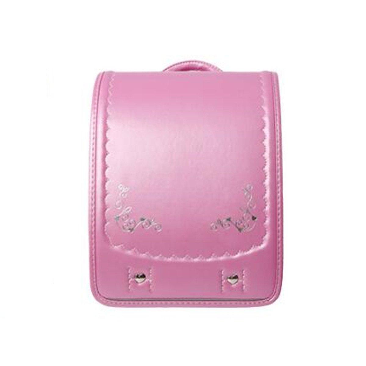 ランドセルランドセル かばん A4フラットファイル対応 女の子 ハート 可愛い入学祝い/プレゼント/誕生日/子供用 ガールズ フリーサイズ ピンク B07DGYMX7K