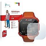 2x Vikuiti MySafeDisplay CV8 Film de protection d'écran Polar RC3 GPS (surface ultra-claire, répare les rayures, application sans soufflures, découpe sur mesure)