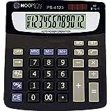 Hoopson PS-4123, Calculadora de Mesa, 12 Dígitos, Bateria/Solar, Preto