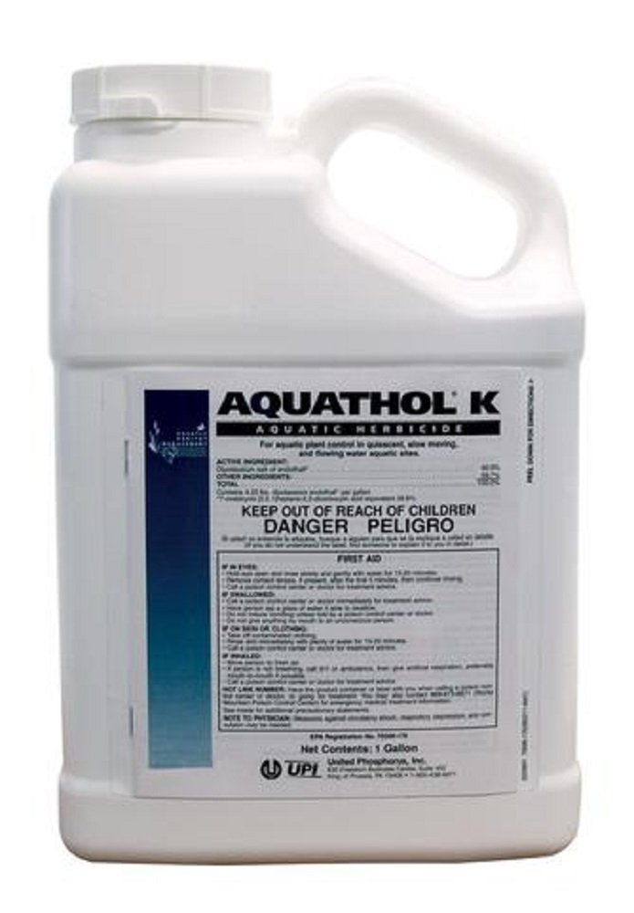 Aquathol-K Aquatic Herbicide 2.5 Gallons - For Controlling & Treating Milfoil, Hydrilla, Curly Leaf Pond Weed and More by United Phosphorus Inc