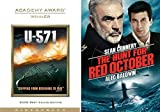 U-Boat Military Submarine 571 + The Hunt For Red October Double Feature DVD 2 Sub pack Films