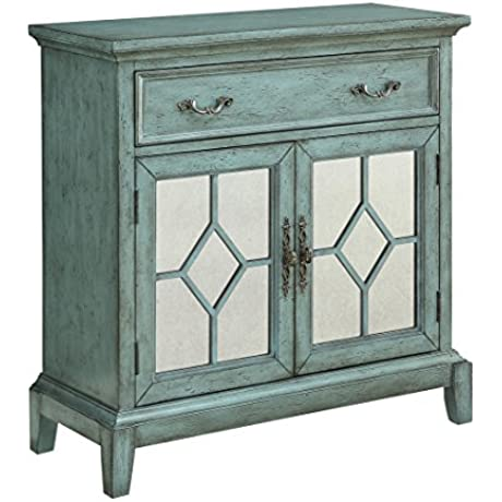 Coast To Coast Wood Cabinets Coast To Coast 13663 One Drawer Two Door Cabinet 34 X 34 5 X 14 Inches Blue Model 13663