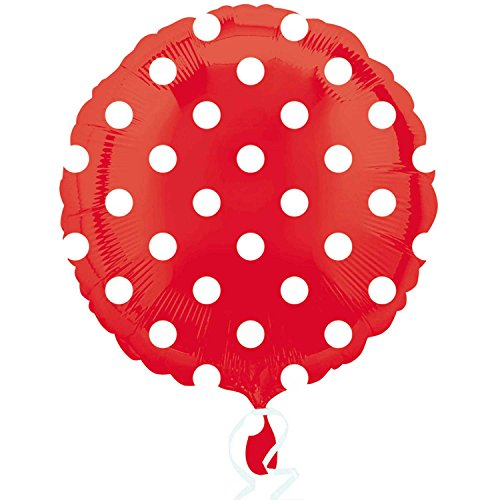 (Anagram 18 Inch Circle Foil Balloon - Apple Red Dots)