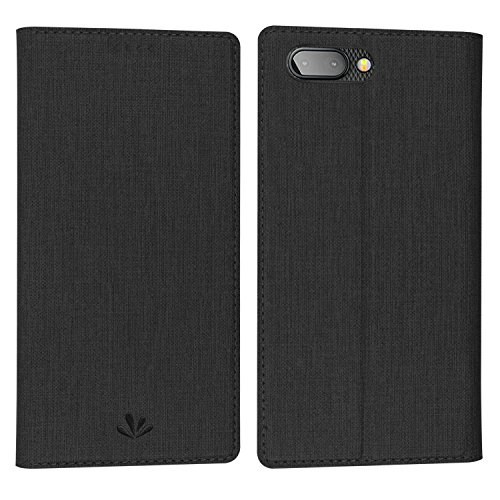 Simicoo BlackBerry Key2 Keytwo Flip PU Leather Slim Case Card Holster Stand Magnetic Cover Clear Silicone TPU Full body Shockproof Pocket Thin Wallet Case for BlackBerry Key2 Keytwo (Black) ()