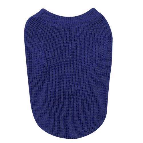 Zack and Zoey Shaker Knit Sweater Xlg Blue, My Pet Supplies
