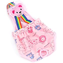 MaruPet Cotton Tighten Strap Sanitary Physiological Pants Toy Detachable Pet Underwear Diapers for Teddy, Pug, Chihuahua, Shih Tzu, Yorkshire Terriers, Papillon Pink S