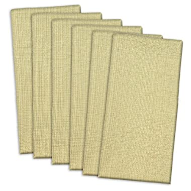 DII 100% Cotton, Oversized Basic Everyday 20x 20  Napkin, Set of 6, Variegated Taupe