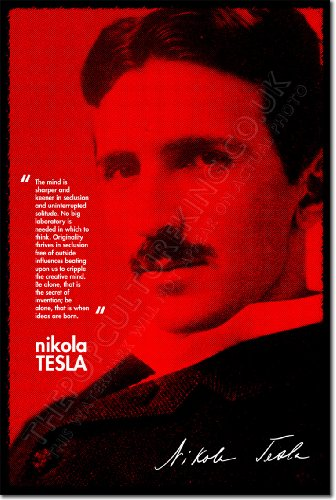Nikola Tesla Art Print Photo Poster Unique Gift Quote