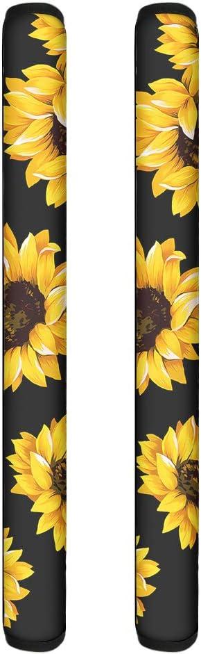 Renewold 1 Pair 2 pcs Washable Refrigerator Door Handle Cover, Yellow Sunflower Decor,Handles Anti-static Antiskid Protector for Fridge Oven Keep Off Fingerprints,Liquid,Oil Stain,Food Spot