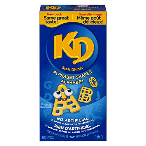 Kraft Dinner Alphabet Macaroni & Cheese Shapes, 156g (Pack of 12) {Imported from Canada} (Kraft Dinner From Canada)