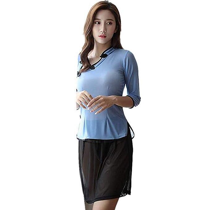 Amazon.com: LvBo Verano Sexy Lencería Set para Mujer Chino ...