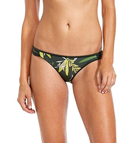 Body Glove Women's Guava Flirty Surf Rider Bikini Bottom, Tropix, Large