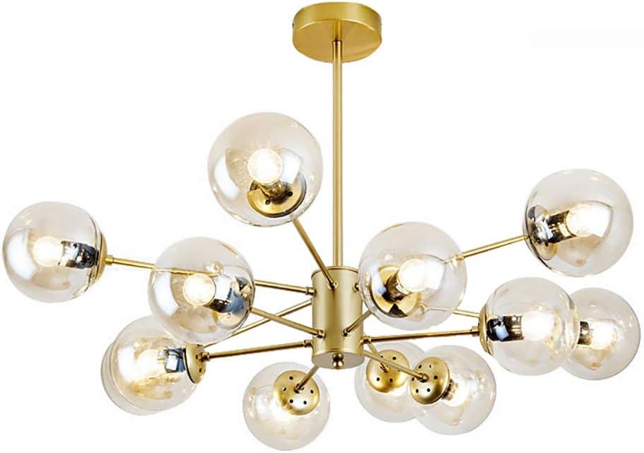 CCSUN Nordic Bola de cristal de la lámpara Sputnik, los mediados de siglo Luz pendiente ajustable E26 antiguo 12Lights Multicolor
