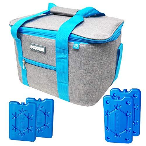 ToCi Kühltasche Isoliertasche Thermotasche Picknicktasche Kühlbox für Picknick Camping Urlaub Wandern Grillen
