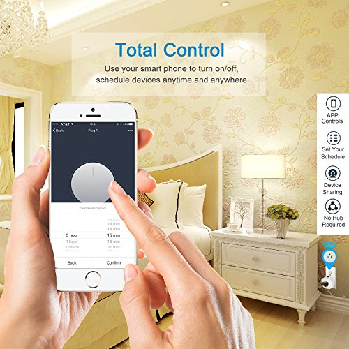 Martin Jerry Mini Wifi Smart Plug Works with Alexa, Google Home, Smart Home Devices to Control Home Appliance from Anywhere, no Hub Required, Wifi Smart Socket (V04) (1 Pack) by Martin Jerry (Image #2)