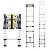 #7: Myifan Telescopic Ladder Multi-Purpose Aluminium Telescoping Ladder Extension Extend Portable Ladder Foldable Ladder EN131Standards (3.8M/12.5Ft)