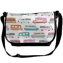 Ice Cream Bus Unisex Casual Messenger School Shoulder Bag Travel Crossbody Bag Single Shoulder Bag Backpack,Laptop Bag