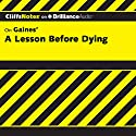 A Lesson Before Dying: CliffsNotes Audiobook by Durthy A. Washington Narrated by Luke Daniels