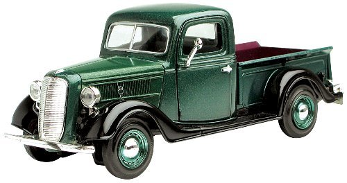 Motormax Wholesale 1937 Ford Pickup Truck Green 1/24 Diecast Car Model