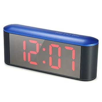 DPS&RXX Mesadespertador Digital con Alarma,Grande LED Digital Reloj Despertador con Puerto USB para Cargador