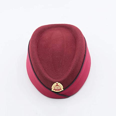 Defect Cappello della Signora Cappello Lana Clip Forma Hostess Cappello  Cappelli Cappello Saluto Galateo cap e6d0cc0452dc