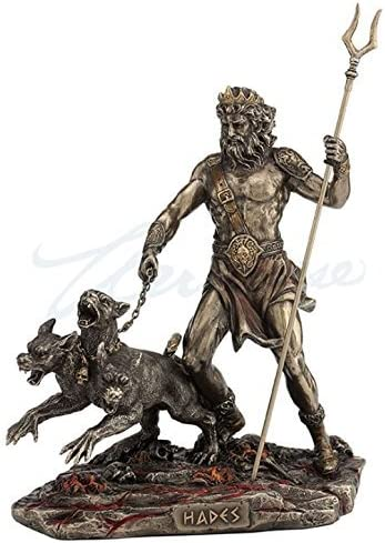 Hades Holding Staff Statue Tucson Mall Cerberus With Very popular