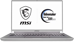 "MSI P75 Creator-469 17.3"" Productivity Laptop, Ultra Portable, Thin Bezel, Intel Core i9-9880H, NVIDIA GeForce RTX2070, 32GB, 1TB NVMe SSD, Thunderbolt 3, Windows 10 Pro"