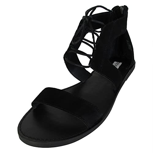b77b8acbc18 Steve Madden Womens Delgado Leather Open Toe Casual Strappy Sandals