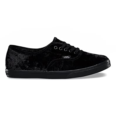 825a12d66b3d Vans Authentic Lo Pro Velvet Skate Shoes-Black Velvet-5.5-Women 4