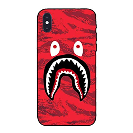 Amazon.com: bape funda iPhone 6s´BAPE Camuflaje Shark boca ...