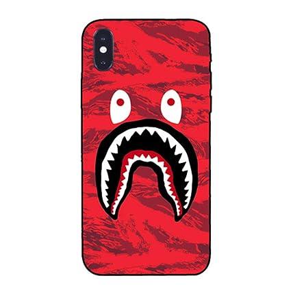 Amazon.com: bape funda iPhone 6s´BAPE Camuflaje Shark boca ...