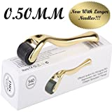 Derma Roller by Golden Touch Luxury Skincare Collection- 540 Premium Quality Titanium Pins! - Comes with Storage Case- US Seller